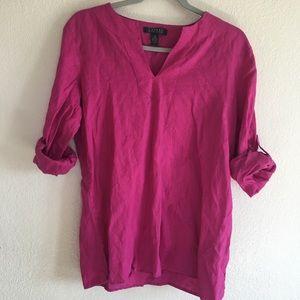 Ralph Lauren Linen Hot Pink Blouse